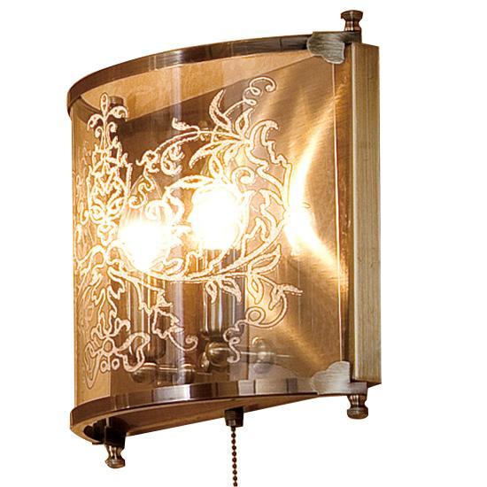 Бра CitiluxНастенные светильники и бра<br>Тип: настенный,<br>Назначение светильника: для комнаты,<br>Стиль светильника: классика,<br>Материал светильника: металл, стекло,<br>Тип лампы: накаливания,<br>Количество ламп: 2,<br>Мощность: 60,<br>Патрон: Е14,<br>Цвет арматуры: бронза,<br>Длина (мм): 110,<br>Ширина: 330,<br>Высота: 280<br>