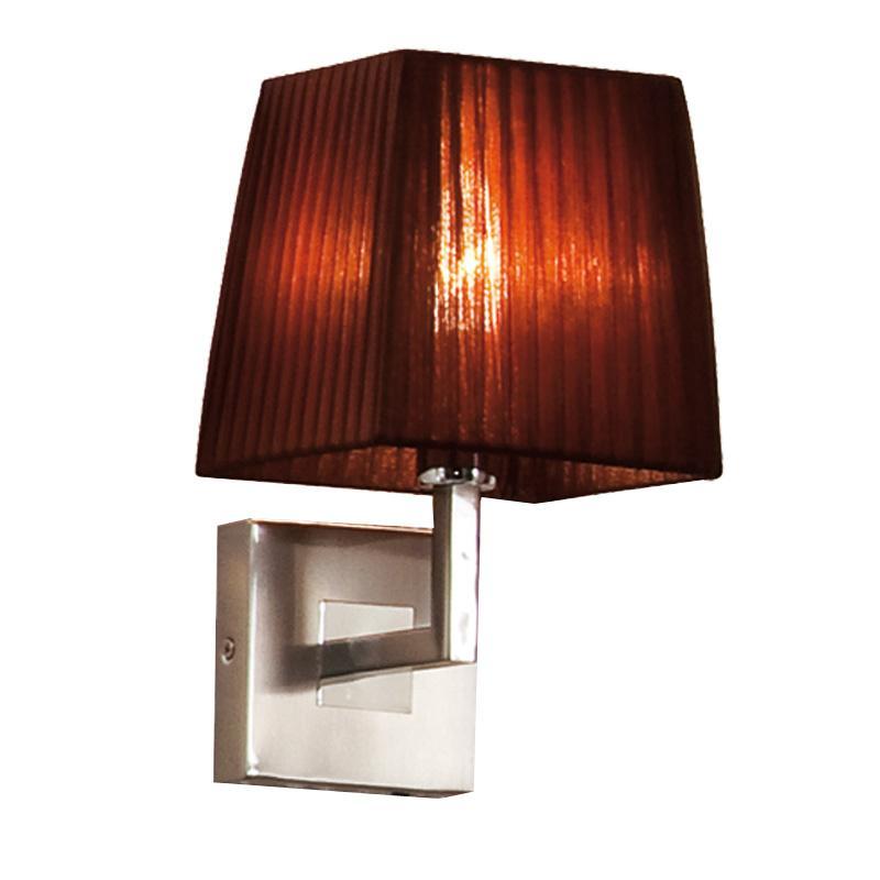 Бра CitiluxНастенные светильники и бра<br>Тип: бра,<br>Назначение светильника: для комнаты,<br>Стиль светильника: модерн,<br>Материал светильника: металл, ткань,<br>Тип лампы: накаливания,<br>Количество ламп: 1,<br>Мощность: 40,<br>Патрон: Е27,<br>Цвет арматуры: цветной,<br>Длина (мм): 180,<br>Ширина: 160,<br>Высота: 280,<br>Диаметр: 160<br>
