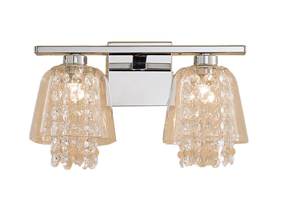 Бра CitiluxНастенные светильники и бра<br>Тип: настенный,<br>Назначение светильника: для комнаты,<br>Стиль светильника: классика,<br>Материал светильника: металл, стекло,<br>Тип лампы: галогенная,<br>Количество ламп: 2,<br>Мощность: 40,<br>Патрон: G9,<br>Цвет арматуры: серебристый,<br>Длина (мм): 160,<br>Ширина: 160,<br>Высота: 150,<br>Диаметр: 150<br>