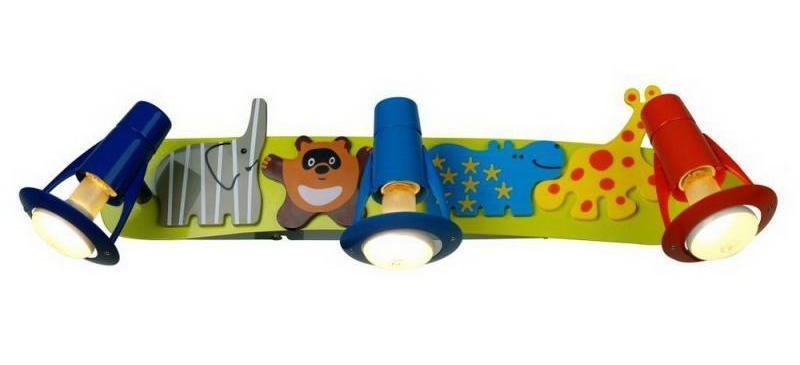 Светильник настенно-потолочный CitiluxДетские светильники<br>Тип: настенно-потолочный, Форма/декор детского светильника: зоопарк (животные), Цвет детского светильника: разноцветный, Материал светильника: металл, Количество ламп: 3, Мощность: 60, Тип лампы: накаливания, Патрон: Е14, Ширина: 480, Длина (мм): 480, Высота: 100, Диаметр: 100<br>