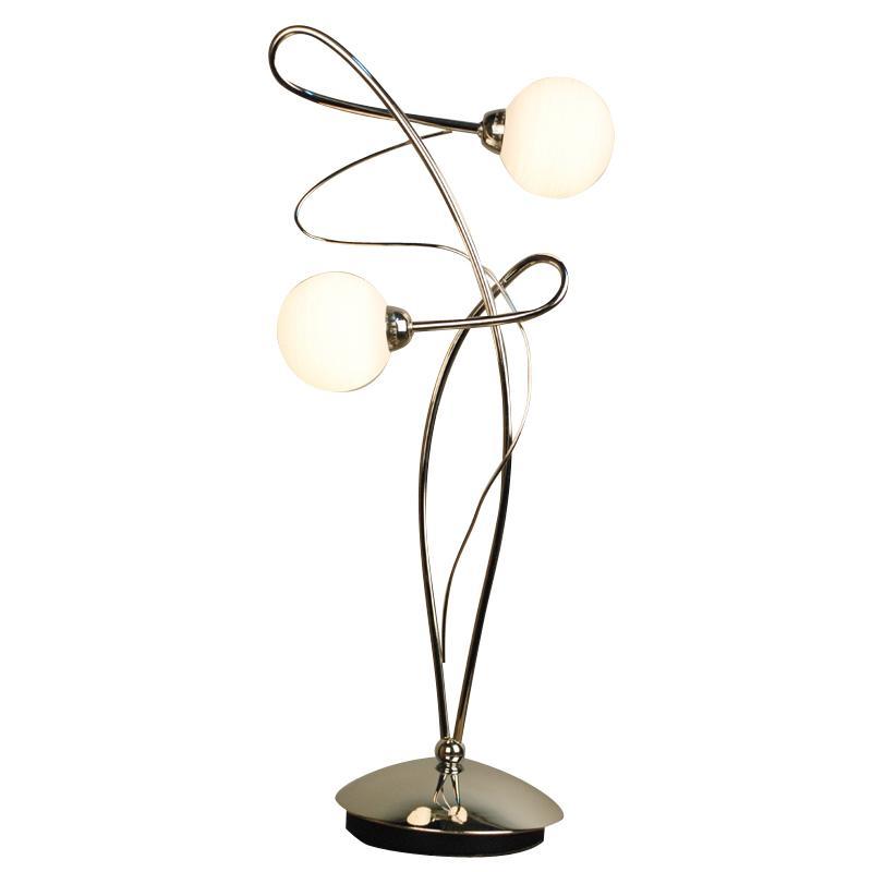 Лампа настольная CitiluxЛампы настольные<br>Тип настольной лампы: декоративная,<br>Назначение светильника: для комнаты,<br>Стиль светильника: модерн,<br>Материал светильника: металл, стекло,<br>Длина (мм): 230,<br>Ширина: 160,<br>Диаметр: 230,<br>Высота: 550,<br>Количество ламп: 2,<br>Тип лампы: галогенная,<br>Мощность: 40,<br>Патрон: G9,<br>Цвет арматуры: серебристый<br>