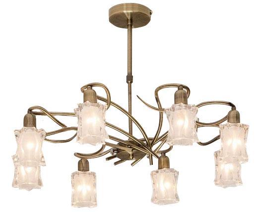 Люстра CitiluxЛюстры<br>Назначение светильника: для гостиной, Стиль светильника: модерн, Тип: подвесная, Материал светильника: металл, стекло, Материал плафона: стекло, Материал арматуры: металл, Длина (мм): 680, Ширина: 420, Диаметр: 680, Высота: 480, Количество ламп: 8, Тип лампы: накаливания, Мощность: 60, Патрон: Е14, Цвет арматуры: бронза, Родина бренда: Дания<br>