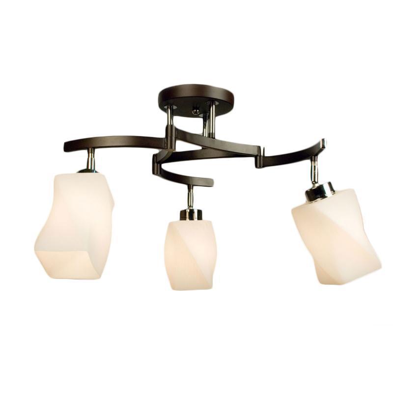 Люстра CitiluxЛюстры<br>Назначение светильника: для комнаты, Стиль светильника: модерн, Тип: потолочная, Материал светильника: металл, стекло, Материал плафона: стекло, Материал арматуры: металл, Длина (мм): 240, Ширина: 240, Диаметр: 620, Высота: 370, Количество ламп: 3, Тип лампы: накаливания, Мощность: 75, Патрон: Е27, Цвет арматуры: серебристый, Родина бренда: Дания<br>