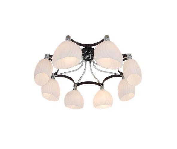 Люстра CitiluxЛюстры<br>Назначение светильника: для гостиной,<br>Стиль светильника: модерн,<br>Тип: потолочная,<br>Материал светильника: металл, стекло,<br>Материал плафона: стекло,<br>Материал арматуры: металл,<br>Длина (мм): 720,<br>Ширина: 720,<br>Диаметр: 720,<br>Высота: 260,<br>Количество ламп: 8,<br>Тип лампы: накаливания,<br>Мощность: 60,<br>Патрон: Е14,<br>Цвет арматуры: черный<br>