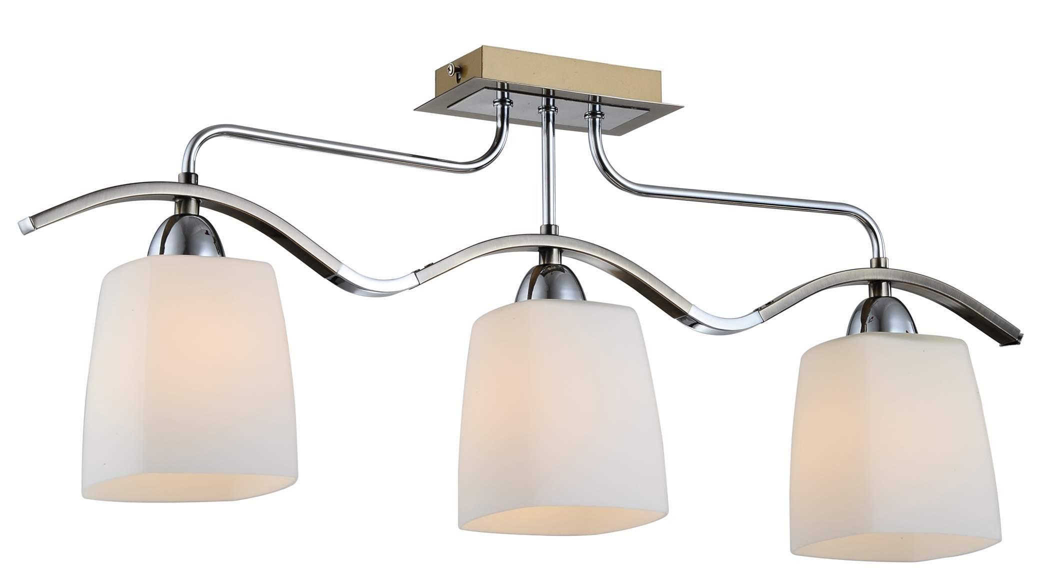 Люстра CitiluxЛюстры<br>Назначение светильника: для комнаты,<br>Стиль светильника: модерн,<br>Тип: потолочная,<br>Материал светильника: металл, стекло,<br>Материал плафона: стекло,<br>Материал арматуры: металл,<br>Длина (мм): 650,<br>Ширина: 110,<br>Высота: 260,<br>Количество ламп: 3,<br>Тип лампы: накаливания,<br>Мощность: 60,<br>Патрон: Е14,<br>Цвет арматуры: бронза<br>