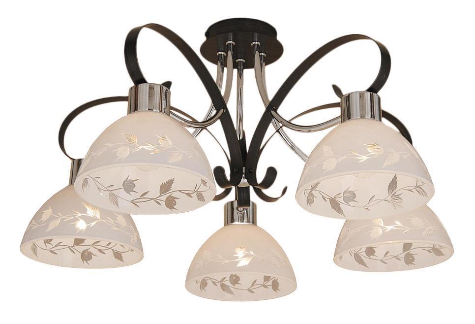 Люстра CitiluxЛюстры<br>Назначение светильника: для гостиной,<br>Стиль светильника: классика,<br>Тип: потолочная,<br>Материал светильника: металл, стекло,<br>Материал плафона: стекло,<br>Материал арматуры: металл,<br>Диаметр: 570,<br>Высота: 315,<br>Количество ламп: 5,<br>Тип лампы: накаливания,<br>Мощность: 75,<br>Патрон: Е27,<br>Цвет арматуры: серебро<br>