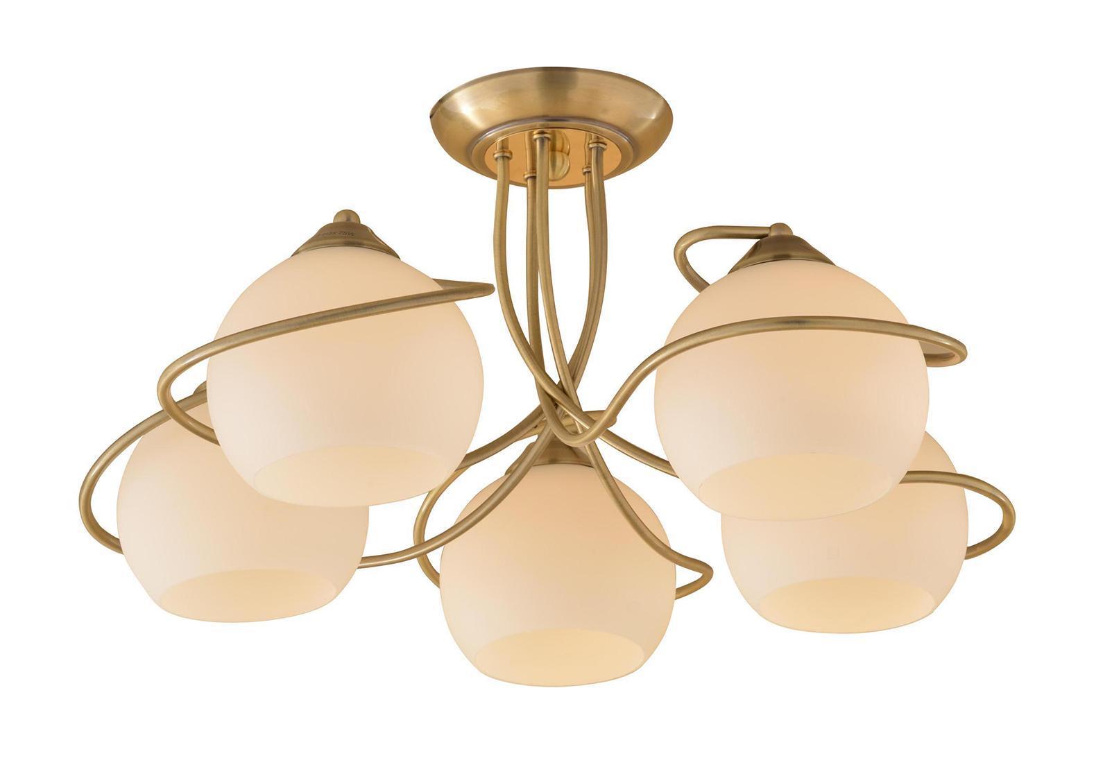 Люстра CitiluxЛюстры<br>Назначение светильника: для гостиной,<br>Стиль светильника: модерн,<br>Тип: подвесная,<br>Материал светильника: металл, стекло,<br>Материал плафона: стекло,<br>Материал арматуры: металл,<br>Диаметр: 610,<br>Высота: 290,<br>Количество ламп: 5,<br>Тип лампы: накаливания,<br>Мощность: 100,<br>Патрон: Е27,<br>Цвет арматуры: бронза<br>