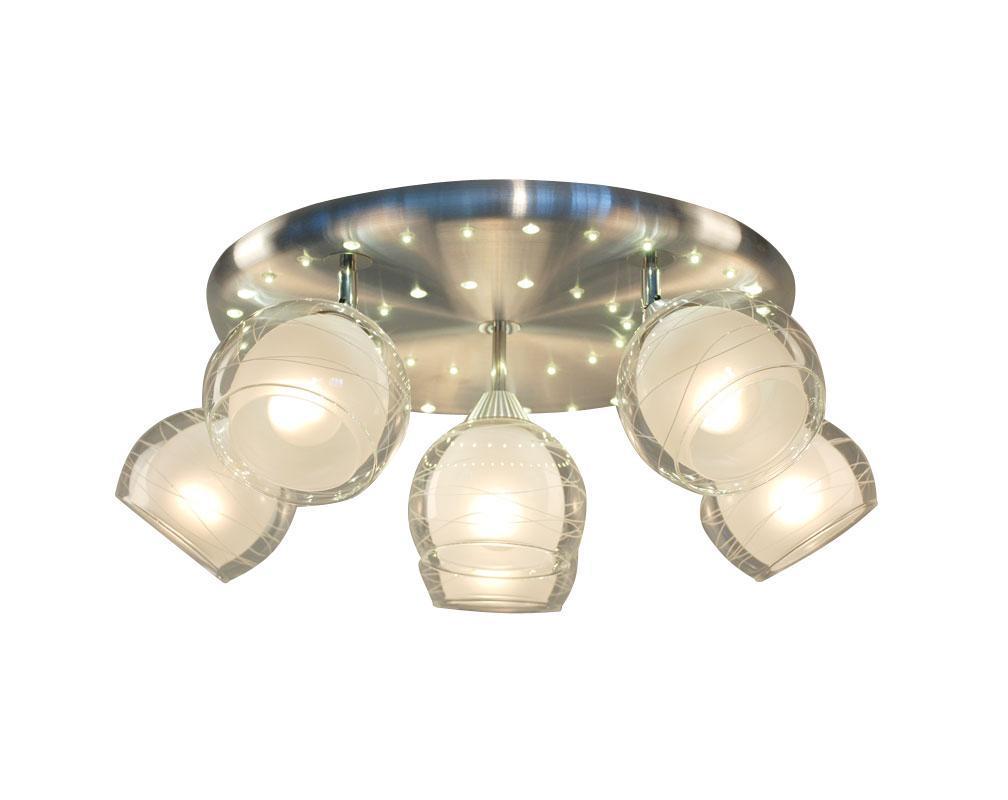 Люстра CitiluxЛюстры<br>Назначение светильника: для гостиной,<br>Стиль светильника: классика,<br>Тип: потолочная,<br>Материал светильника: металл, стекло,<br>Материал плафона: стекло,<br>Материал арматуры: металл,<br>Диаметр: 550,<br>Высота: 225,<br>Количество ламп: 6,<br>Тип лампы: накаливания,<br>Мощность: 75,<br>Патрон: Е27,<br>Цвет арматуры: серебро<br>