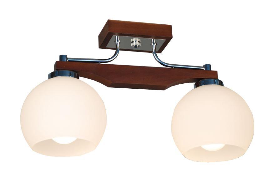 Люстра CitiluxЛюстры<br>Назначение светильника: для комнаты, Стиль светильника: классика, Тип: потолочная, Материал светильника: дерево, стекло, Материал плафона: стекло, Материал арматуры: металл, Длина (мм): 150, Ширина: 420, Высота: 235, Количество ламп: 2, Тип лампы: накаливания, Мощность: 75, Патрон: Е27, Цвет арматуры: дерево, Родина бренда: Дания<br>