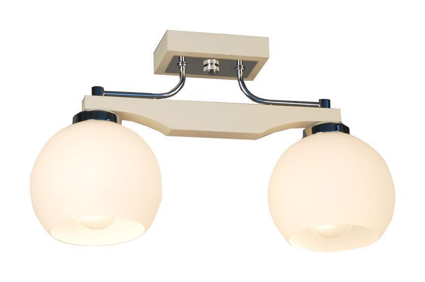 Люстра CitiluxЛюстры<br>Назначение светильника: для комнаты, Стиль светильника: классика, Тип: потолочная, Материал светильника: дерево, стекло, Материал плафона: стекло, Материал арматуры: металл, Длина (мм): 150, Ширина: 420, Высота: 235, Количество ламп: 2, Тип лампы: накаливания, Мощность: 75, Патрон: Е27, Цвет арматуры: белый, Родина бренда: Дания<br>