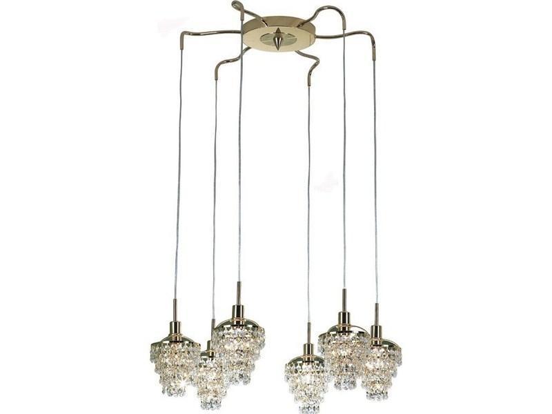 Люстра CitiluxЛюстры<br>Назначение светильника: для гостиной, Стиль светильника: модерн, Тип: подвесная, Материал светильника: металл, хрусталь, Материал арматуры: металл, Ширина: 650, Диаметр: 650, Высота: 1100, Количество ламп: 6, Тип лампы: накаливания, Мощность: 60, Патрон: Е14, Цвет арматуры: золото, Родина бренда: Дания<br>