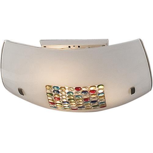 Светильник настенно-потолочный CitiluxСветильники настенно-потолочные<br>Мощность: 100,<br>Количество ламп: 3,<br>Назначение светильника: для комнаты,<br>Стиль светильника: модерн,<br>Материал светильника: металл, стекло,<br>Тип лампы: накаливания,<br>Длина (мм): 110,<br>Ширина: 400,<br>Патрон: Е27,<br>Цвет арматуры: серебристый<br>