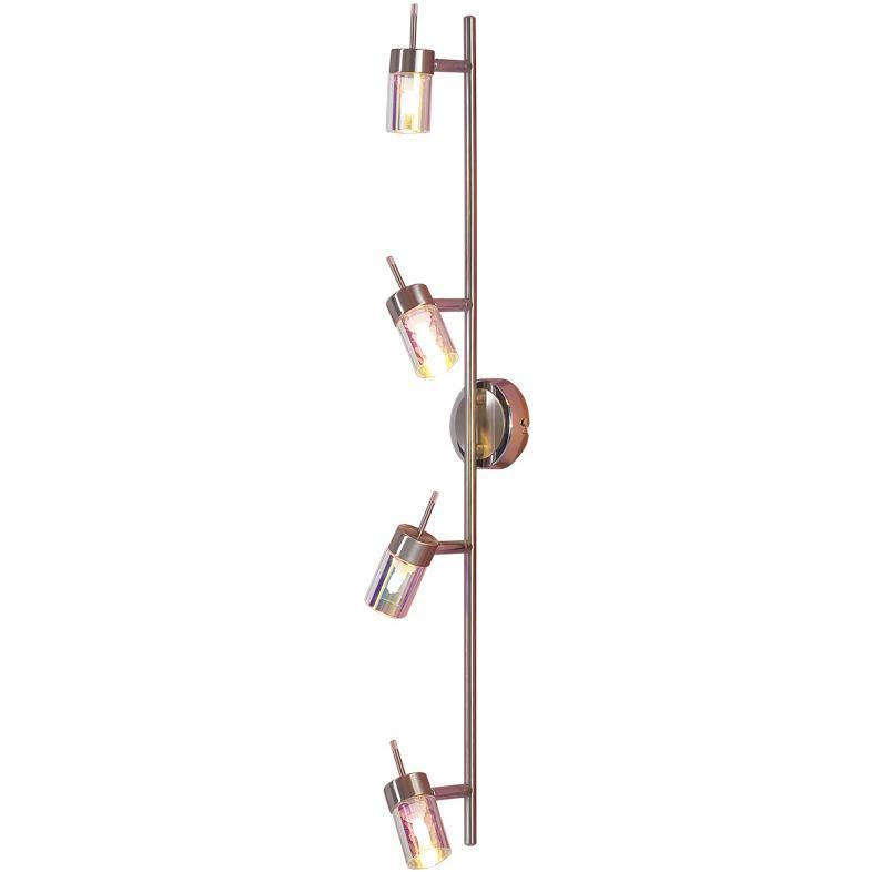 Светильник настенно-потолочный CitiluxСветильники настенно-потолочные<br>Мощность: 40,<br>Количество ламп: 4,<br>Назначение светильника: для комнаты,<br>Стиль светильника: современный,<br>Материал светильника: металл, стекло,<br>Тип лампы: галогенная,<br>Длина (мм): 140,<br>Ширина: 810,<br>Высота: 100,<br>Диаметр: 140,<br>Патрон: G9,<br>Цвет арматуры: серебристый<br>