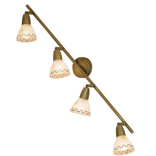 Спот CitiluxСпоты<br>Тип: спот,<br>Стиль светильника: современный,<br>Материал светильника: металл, стекло,<br>Количество ламп: 4,<br>Тип лампы: накаливания,<br>Мощность: 60,<br>Патрон: Е14,<br>Цвет арматуры: золото,<br>Диаметр: 880,<br>Ширина: 800,<br>Длина (мм): 150<br>