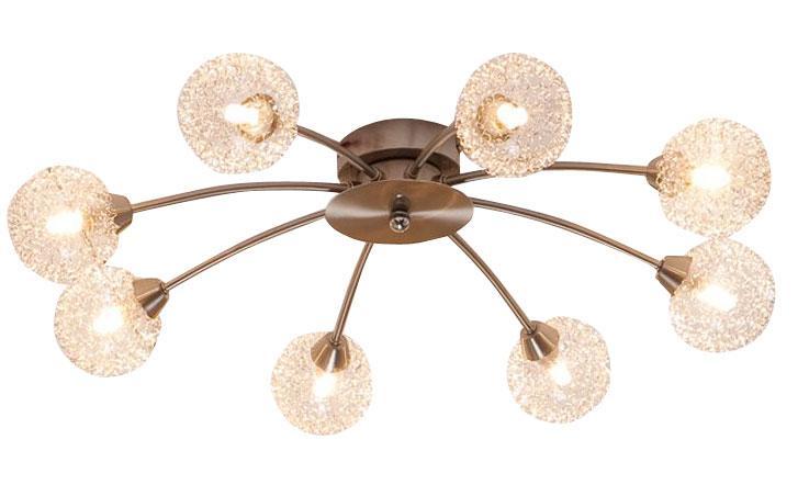 Спот CitiluxСпоты<br>Тип: спот,<br>Стиль светильника: модерн,<br>Материал светильника: металл, стекло,<br>Количество ламп: 8,<br>Тип лампы: галогенная,<br>Мощность: 40,<br>Патрон: G9,<br>Цвет арматуры: дерево,<br>Диаметр: 640,<br>Ширина: 640,<br>Длина (мм): 640,<br>Высота: 140<br>