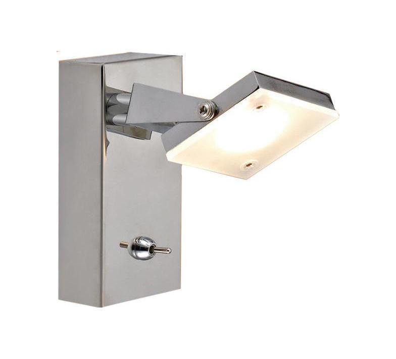 Спот CitiluxСпоты<br>Тип: спот,<br>Стиль светильника: модерн,<br>Материал светильника: металл, стекло,<br>Количество ламп: 1,<br>Тип лампы: светодиодная,<br>Мощность: 5,<br>Патрон: LED,<br>Цвет арматуры: серебристый<br>