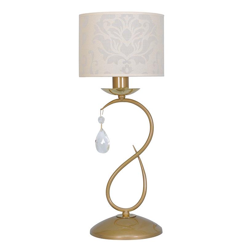 Лампа настольная СЕВЕРНЫЙ СВЕТЛампы настольные<br>Тип настольной лампы: декоративная,<br>Назначение светильника: для комнаты,<br>Стиль светильника: модерн,<br>Материал светильника: металл, ткань,<br>Высота: 420,<br>Количество ламп: 1,<br>Тип лампы: накаливания,<br>Мощность: 60,<br>Патрон: Е14,<br>Цвет арматуры: золото,<br>Вес нетто: 2,<br>Коллекция: валенсия<br>