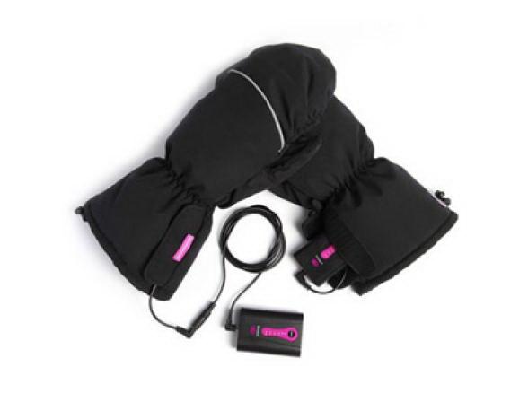 Рукавицы PekathermЛыжные перчатки<br>Тип: рукавицы,<br>Пол: унисекс,<br>Размер: L,<br>Зимние: есть,<br>Цвет: черный,<br>С подогревом: есть<br>