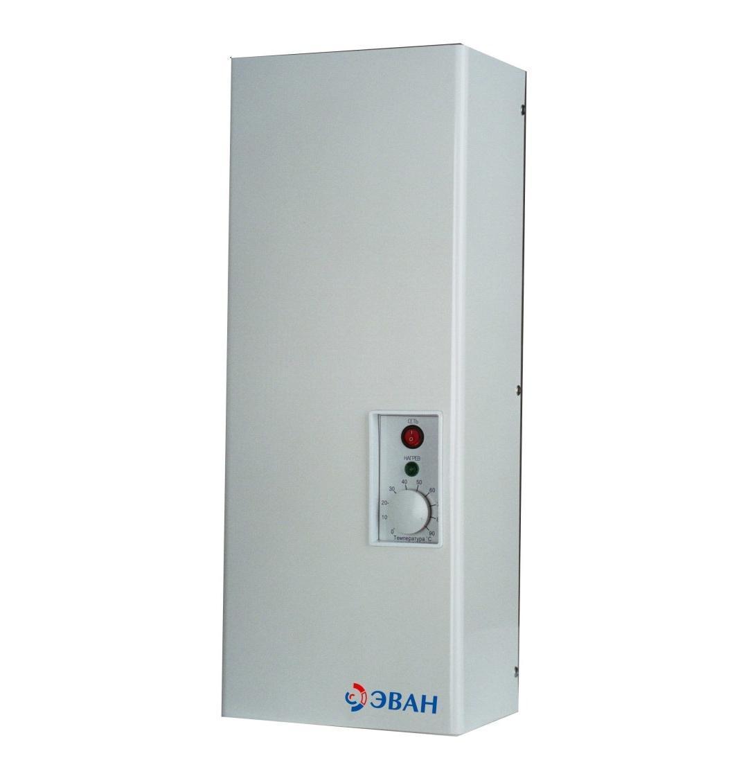 Электрический котел ЭВАНКотлы электрические<br>Мощность (кВт): 9,<br>Высота: 642,<br>Длина (мм): 174.5,<br>Ширина: 250,<br>Тип установки: настенный,<br>Напряжение: 220<br>