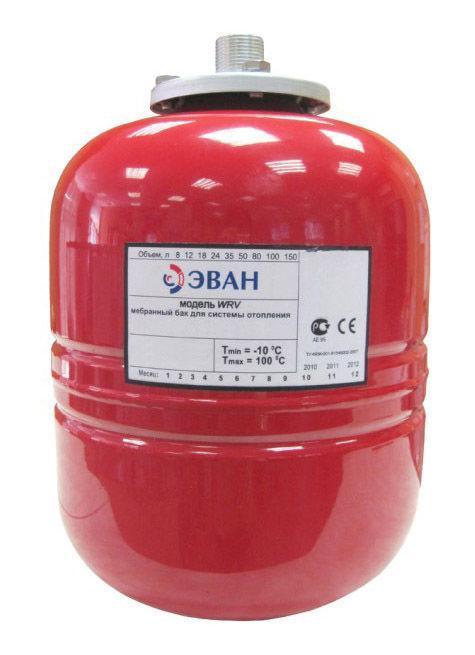 Бак ЭВАНБаки расширительные<br>Тип бака: мембранный,<br>Объем: 8,<br>Макс. давление: 1.5,<br>Макс. температура: +100,<br>Присоединительный размер: 3/4<br>