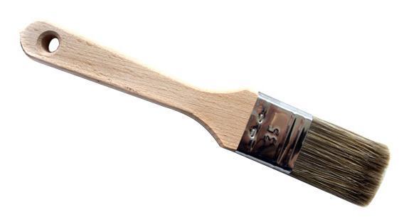 Кисть флейцевая ЛАЗУРНЫЙ БЕРЕГКисти малярные<br>Тип кисти: плоская,<br>Щетина: смешанная,<br>Ширина: 35,<br>Материал рукоятки: древесина,<br>Вес нетто: 0.2<br>