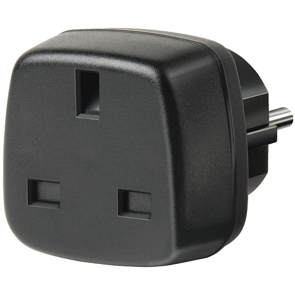 Переходник BrennenstuhlАксессуары для электромонтажа<br>Тип аксессуара: переходник, Степень защиты от пыли и влаги: IP 20, Сила тока: 13, Количество гнезд: 1, Шторки: есть, Заземление: есть, Цвет: черный<br>