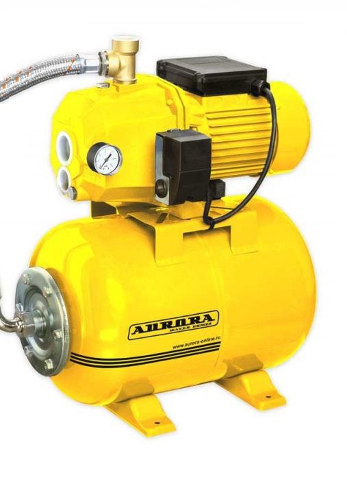 Насосная станция AuroraНасосные станции<br>Мощность: 1100,<br>Назначение по воде: чистая вода,<br>Мин. производительность по воде: 9,<br>Макс. производительность по воде: 2600,<br>Тип насоса: поверхностный,<br>Мин. давление: 1,<br>Макс. давление: 3,<br>Макс. глубина: 25,<br>Макс. высота: 55,<br>Макс. температура воды на входе: 50,<br>Бак: 24,<br>Самовсасывающая: есть,<br>Материал корпуса: чугун/сталь,<br>Эжектор: выносной<br>