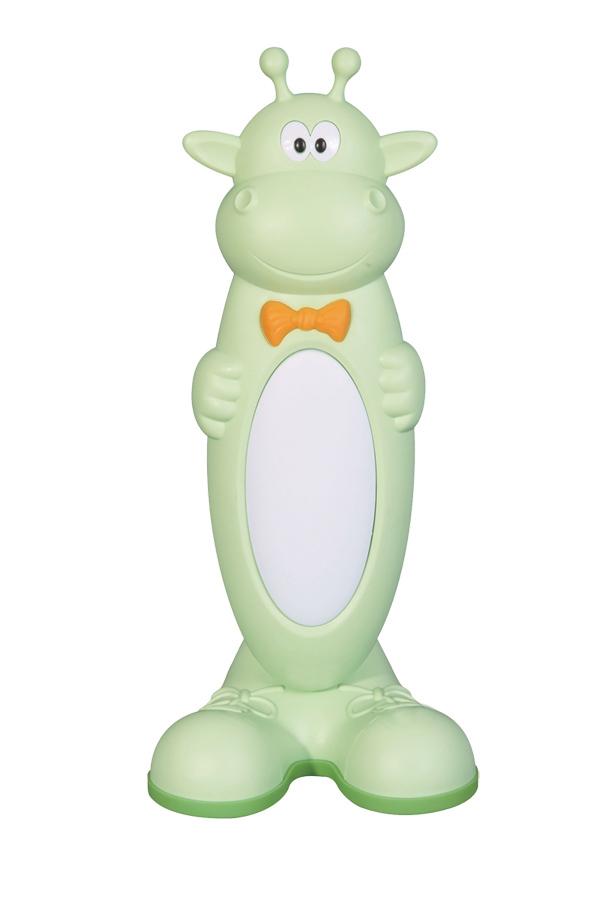 Лампа настольная ТДМДетские светильники<br>Тип: настольный,<br>Форма/декор детского светильника: зоопарк (животные),<br>Цвет детского светильника: зеленый,<br>Материал светильника: пластик,<br>Количество ламп: 1,<br>Мощность: 11,<br>Тип лампы: люминесцентная,<br>Патрон: G23<br>