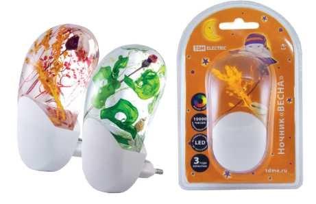 Ночник ТДМНочники<br>Способ установки: в розетку,<br>Тип лампы: светодиодная,<br>Количество ламп: 1,<br>Материал светильника: пластик,<br>Датчик освещенности: есть,<br>Назначение светильника: для детской комнаты<br>