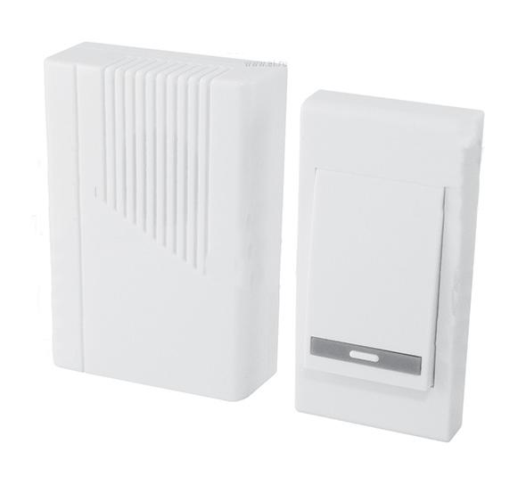 Звонок ТДМЗвонки<br>Тип: звонок,<br>Тип звонка: беспроводной,<br>Количество мелодий: 36,<br>Радиус действия: 100,<br>Цвет: белый,<br>Источники питания: AA,<br>Степень защиты от пыли и влаги: IP 44,<br>Количество каналов: 1<br>
