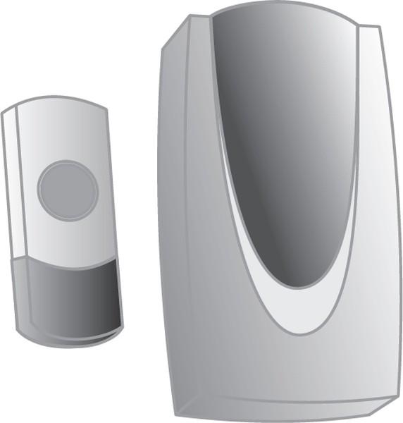 Звонок ТДМЗвонки<br>Тип: звонок,<br>Тип звонка: беспроводной,<br>Количество мелодий: 36,<br>Радиус действия: 100,<br>Цвет: серый,<br>Источники питания: AA,<br>Степень защиты от пыли и влаги: IP 44,<br>Количество каналов: 1<br>