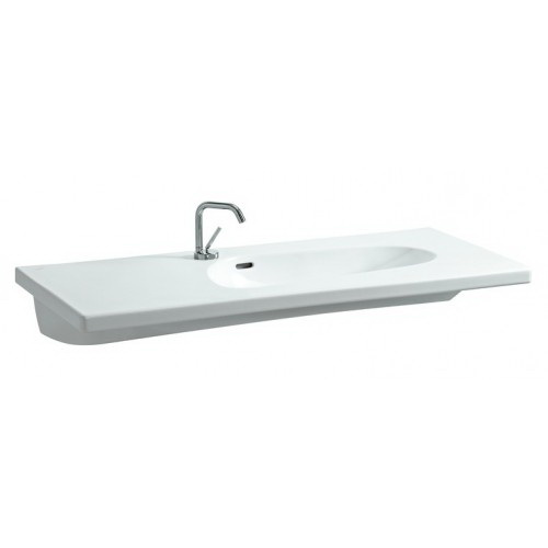 Раковина LaufenРаковины (умывальники)<br>Тип: раковина,<br>Назначение умывальника(раковины): для ванной,<br>Ширина: 1200,<br>Глубина: 150,<br>Форма раковины: прямоугольная,<br>Цвет: белый,<br>Отверстие под смеситель: нет,<br>Материал: керамика,<br>Тип установки раковины: подвесной<br>