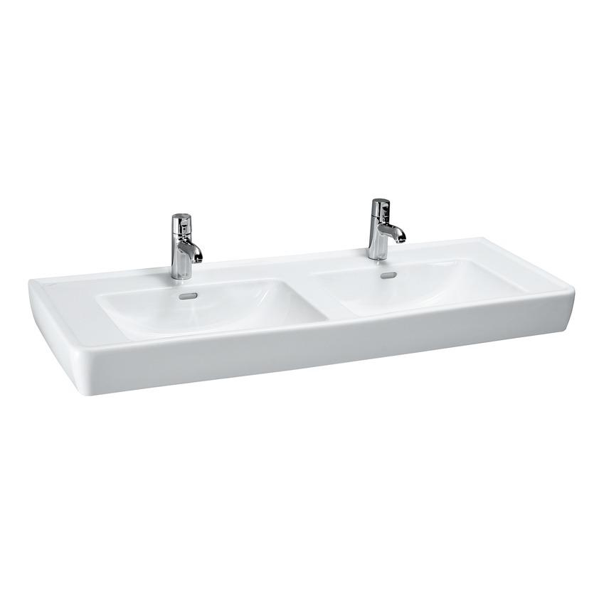 Раковина LaufenРаковины (умывальники)<br>Тип: раковина, Назначение умывальника(раковины): для ванной, Ширина: 1300, Глубина: 480, Форма раковины: прямоугольная, Цвет: белый, Отверстие под смеситель: нет, Материал: керамика, Тип установки раковины: подвесной, Коллекция: pro<br>