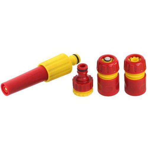 Набор GrindaПистолеты для шлангов и распылители<br>Тип: набор, Материал: пластик, Регулируемый: есть<br>
