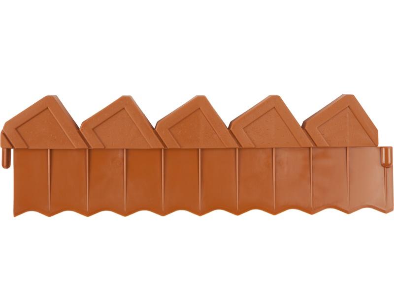 Ограждение для клумб GrindaДекоративные ограждения<br>Тип: ограда,<br>Длина (мм): 2880,<br>Высота: 150,<br>Материал: пластик,<br>Цвет: коричневый<br>