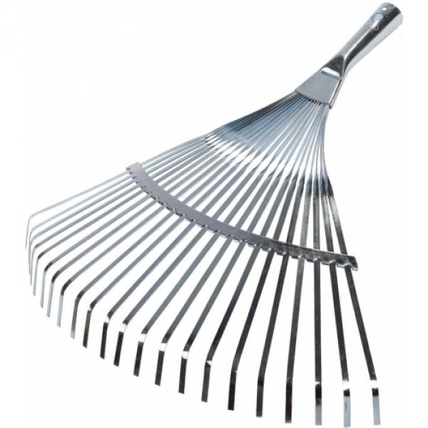Грабли RacoГрабли<br>Тип: грабли,<br>Конструкция: веерные,<br>Материал зубцов: металл,<br>Количество зубьев: 22,<br>Вес нетто: 0.6<br>