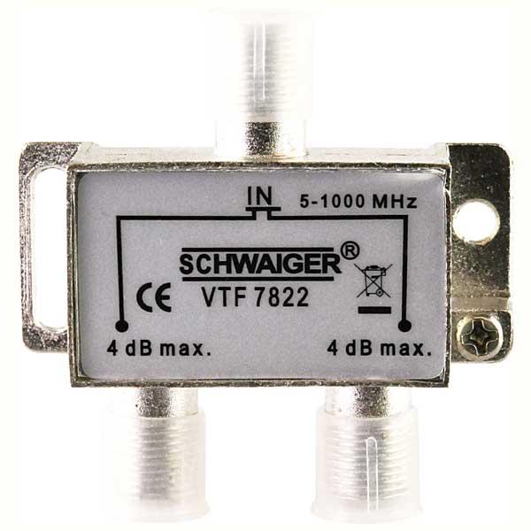 Разветвитель SchwaigerРазъемы, адаптеры<br>Тип: разветвитель, Тип соединения: TV/TV, Назначение: аудио/видео, Количество разъемов: 3, Вес нетто: 0.06<br>