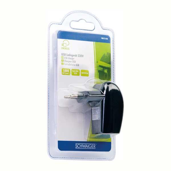 Зарядное устройство SchwaigerРазъемы, адаптеры<br>Тип: зарядное устройство, Тип разъемов: USB, Количество разъемов: 1, Вес нетто: 0.078<br>