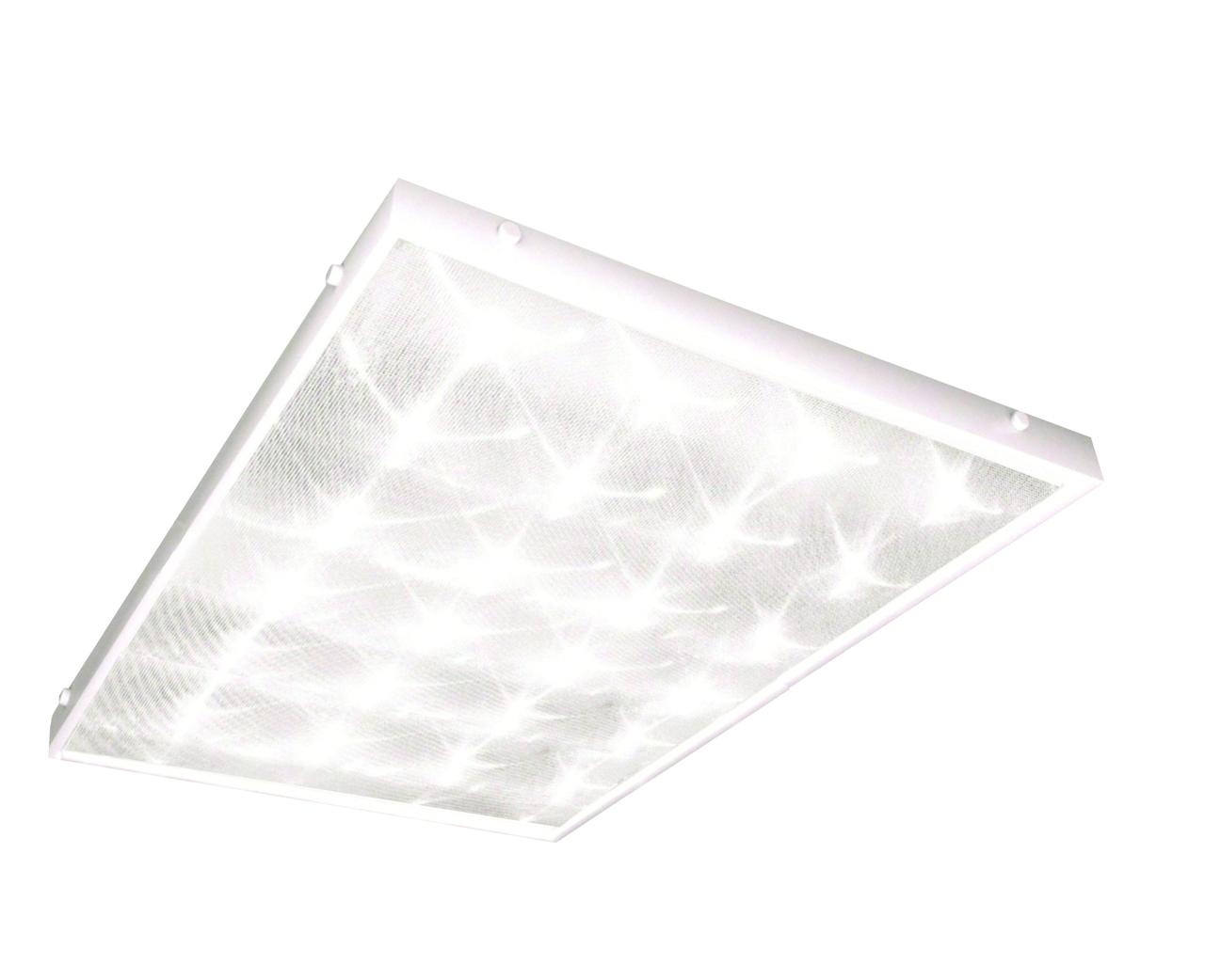 Светильник настенно-потолочный ТДМСветильники офисные, промышленные<br>Назначение светильника: офисный,<br>Тип лампы: светодиодная,<br>Мощность: 32,<br>Патрон: LED,<br>Длина (мм): 595,<br>Ширина: 595<br>