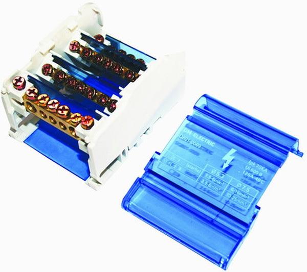 Шина ТДМЩиты электрические, боксы<br>Тип: шина, Материал: латунь, Использование: в помещении, DIN рейка: одна, Количество модулей: 7<br>