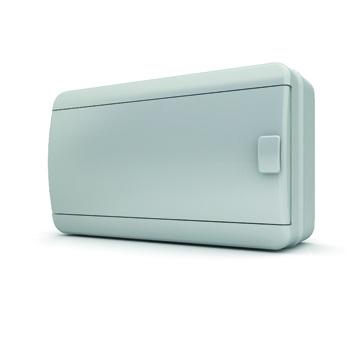 Бокс TekforЩиты электрические, боксы<br>Тип: бокс,<br>Тип установки: навесной,<br>Материал: пластик,<br>Степень защиты от пыли и влаги: IP 65,<br>Использование: на улице,<br>Высота: 190,<br>Ширина: 236,<br>Глубина: 102.9,<br>Клеммник: есть,<br>DIN рейка: одна,<br>Количество модулей: 18<br>