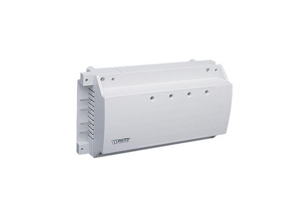 Модуль коммутационный WattsТерморегуляторы<br>Тип: электронный,<br>Назначение: для термостата,<br>Управление: электронное,<br>Способ монтажа: скрытой установки,<br>Количество зон: 4<br>