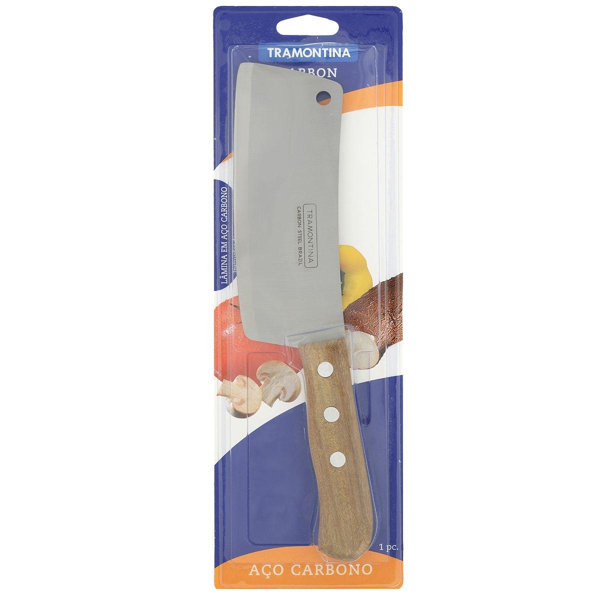 Топорик для мяса TramontinaНожи, мусаты, ножеточки<br>Тип: топорик,<br>Назначение: для мяса,<br>Материал: нержавеющая сталь,<br>Длина (мм): 153<br>