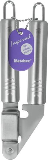 Пресс для чеснока MetaltexАксессуары кухонные<br>Тип: пресс для чеснока,<br>Материал: нерж.сталь,<br>Длина (мм): 195<br>