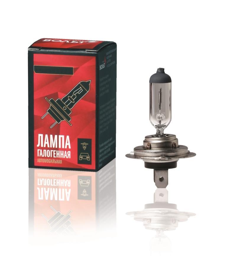 Лампа автомобильная СТАРТВОЛЬТЛампы автомобильные<br>Тип лампы: галогенная,<br>Типоразмер: H7,<br>Тип цоколя: PX26d,<br>Мощность: 55,<br>Напряжение: 12,<br>Назначение автомобильной лампы: головной свет<br>
