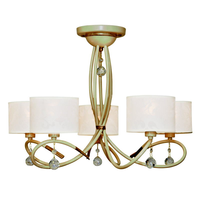 Люстра СЕВЕРНЫЙ СВЕТЛюстры<br>Назначение светильника: для комнаты, Стиль светильника: модерн, Тип: потолочная, Материал светильника: сталь, Материал плафона: металл, Материал арматуры: металл, Диаметр: 620, Высота: 440, Количество ламп: 5, Тип лампы: накаливания, Мощность: 60, Патрон: Е14, Цвет арматуры: цветной, Родина бренда: Россия, Вес нетто: 5, Коллекция: сонет<br>