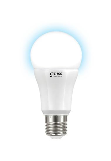 Лампа светодиодная GaussЛампы<br>Тип лампы: светодиодная,<br>Форма лампы: груша,<br>Цвет колбы: белая,<br>Тип цоколя: Е27,<br>Напряжение: 220,<br>Мощность: 12,<br>Цветовая температура: 4100,<br>Цвет свечения: холодный<br>