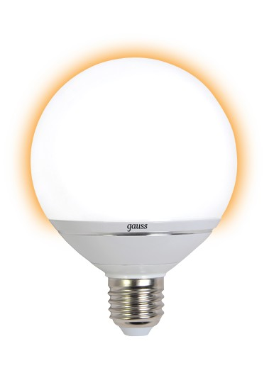 Лампа светодиодная GaussЛампы<br>Тип лампы: светодиодная,<br>Форма лампы: шар,<br>Цвет колбы: белая,<br>Тип цоколя: Е27,<br>Напряжение: 220,<br>Мощность: 14,<br>Цветовая температура: 2700,<br>Цвет свечения: теплый,<br>Диммируемая: есть<br>