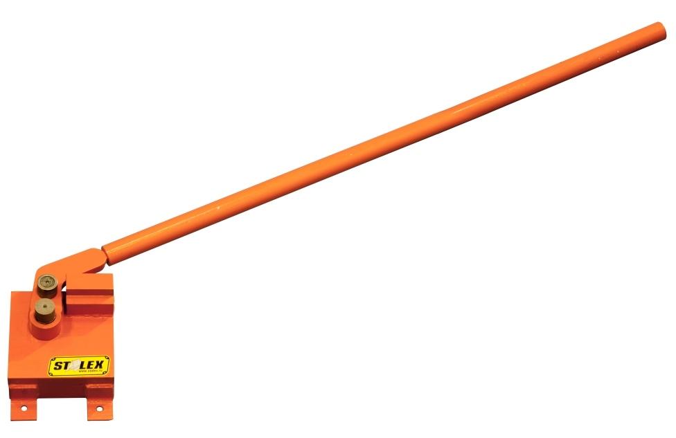 Станок для гибки арматуры StalexСтанки гибочные<br>Тип станка: гибщик арматуры,<br>Максимальная толщина стального листа: 20,<br>Вес нетто: 10,<br>Привод: ручной,<br>Мобильность: есть<br>