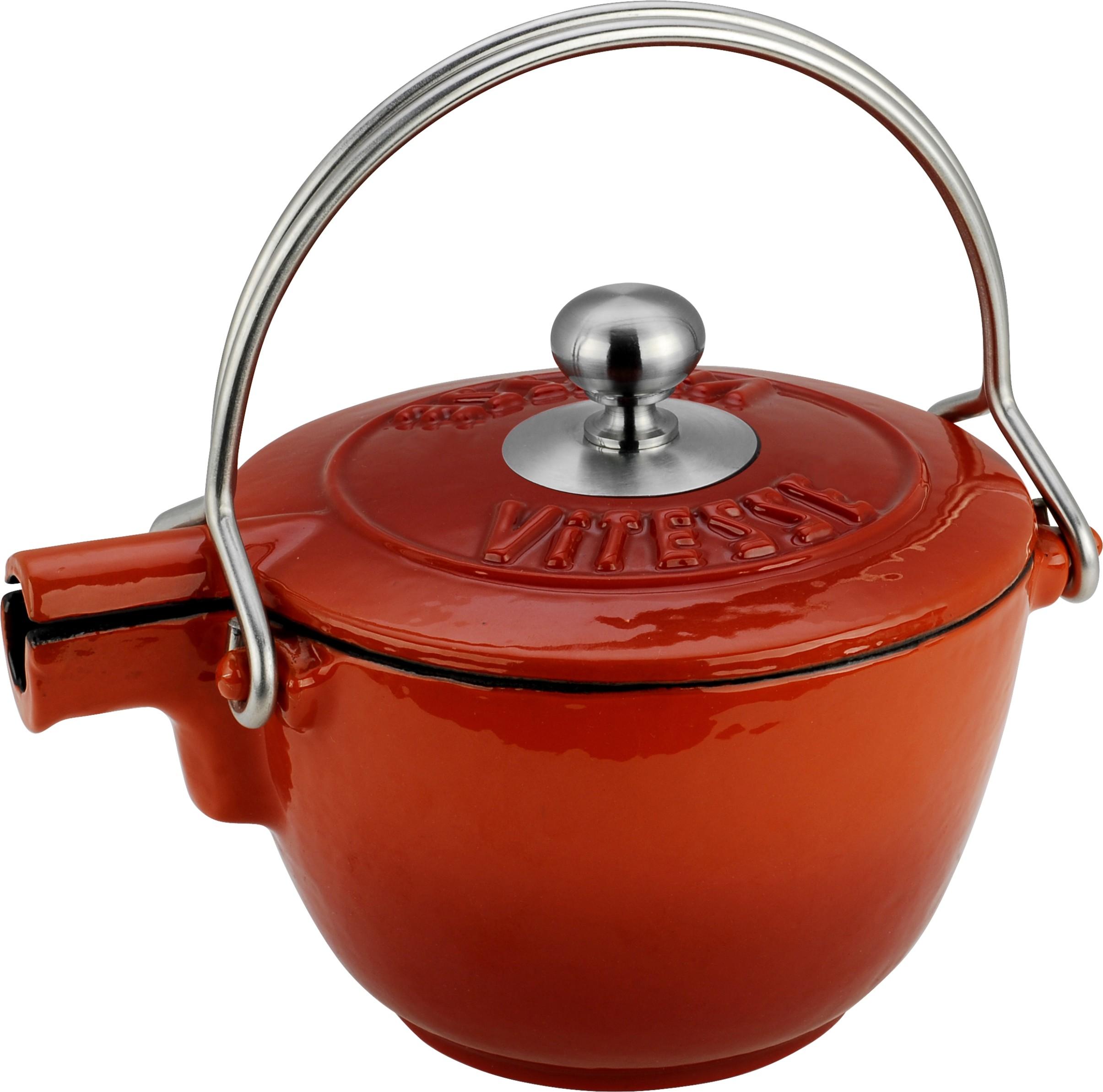Чайник заварочный VitesseЧайники заварочные<br>Тип: чайник заварочный,<br>Объем: 1.15,<br>Цвет: красный,<br>Материал: чугун,<br>Вес нетто: 2.5<br>
